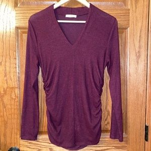 Promesa- Cinched V-Neck Sweater